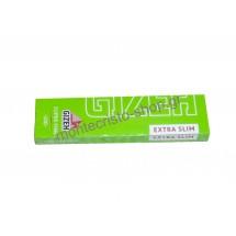 Χαρτάκια στενά GIZEH Λαχανί Extra Slim Super Fine ριζόχαρτο 66 φύλλα