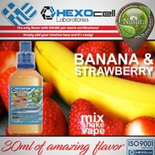 MIX-SHAKE-VAPE - NATURA 30/60ML - BANANA & STRAWBERRY