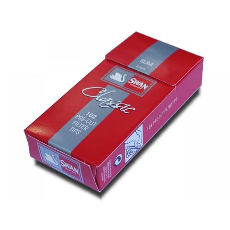 Φιλτράκια Swan Classic Slim κόκκινο 6mm 102 τεμ