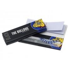 Χαρτάκια στριφτού THE BULLDOG BLACK 1&1/4 + TIPS 40 με τζιβάνες